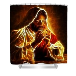 Jesus Christ Last Supper Shower Curtain by Pamela Johnson