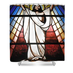 Jesus Is Our Savior Shower Curtain by Gaspar Avila
