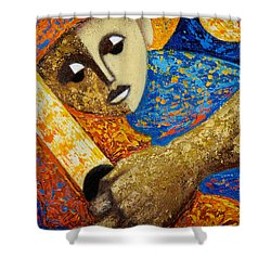 Jibaro Y Sol Shower Curtain by Oscar Ortiz