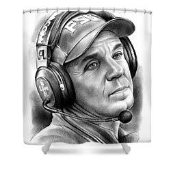 Jimbo Fisher Shower Curtain by Greg Joens