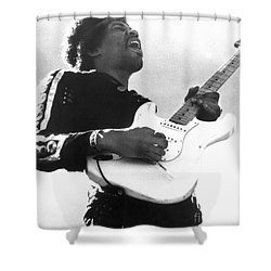 Jimi Hendrix (1942-1970) Shower Curtain by Granger