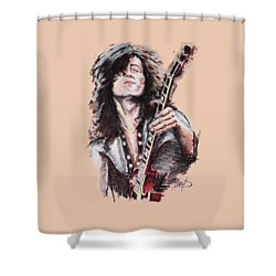 Jimmy Page Shower Curtain by Melanie D