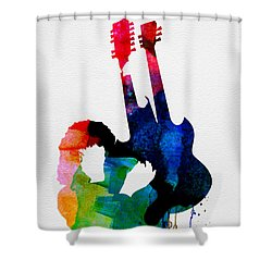 Jimmy Watercolor Shower Curtain by Naxart Studio