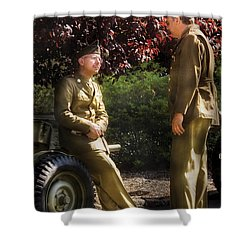 Job - Army - Remembrance  Shower Curtain by Mike Savad