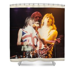 Joe And Phil Of Def Leppard Shower Curtain by Rich Fuscia
