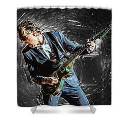Joe Bonamassa Shower Curtain by Taylan Apukovska