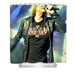 Joe Elliott Of Def Leppard Shower Curtain by David Patterson