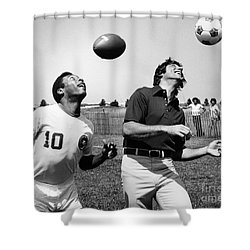 Joe Namath (1943- ) Shower Curtain by Granger