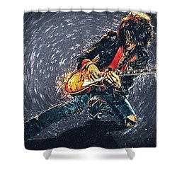 Joe Perry Shower Curtain by Taylan Soyturk