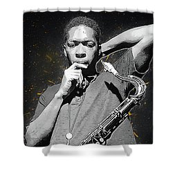 John Coltrane Shower Curtain by Semih Yurdabak
