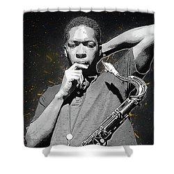 John Coltrane Shower Curtain by Semih Yurdabak