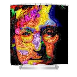 John Lennon Shower Curtain by Stephen Anderson