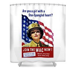 Join The Wac Now Shower Curtain by War Is Hell Store