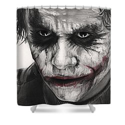 Joker Face Shower Curtain by James Holko