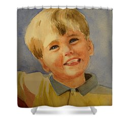 Joshua's Brother Shower Curtain by Marilyn Jacobson