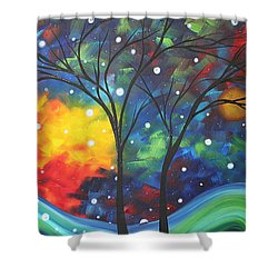 Joy By Madart Shower Curtain by Megan Duncanson