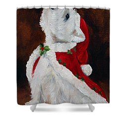 Joy To The World Shower Curtain by Mary Sparrow