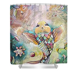Joyful Koi II Shower Curtain by Shadia Derbyshire