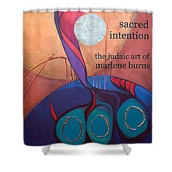 Judaic Art Book Shower Curtain by Marlene Burns