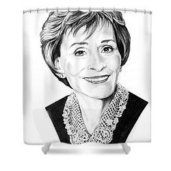 Judge Judith Sheindlin Shower Curtain by Murphy Elliott