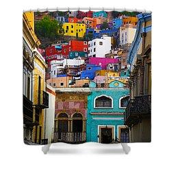 Juegos In Guanajuato Shower Curtain by Skip Hunt