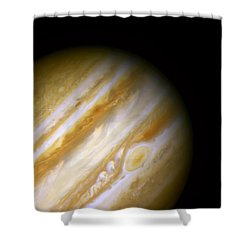 Jupiter And The Great Red Spot Shower Curtain by The  Vault - Jennifer Rondinelli Reilly