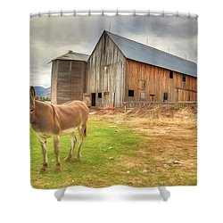 Just Another Day On The Farm Shower Curtain by Donna Kennedy