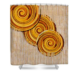 Just Bread Shower Curtain by Pepita Selles
