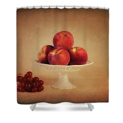 Just Peachy Shower Curtain by Tom Mc Nemar