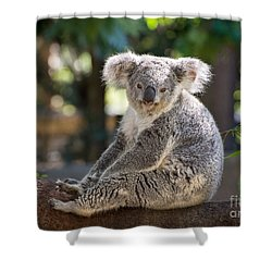 Just Relax Shower Curtain by Jamie Pham