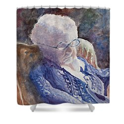 Just Resting My Eyes Shower Curtain by Mary Benke