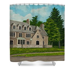 Kappa Delta Rho North View Shower Curtain by Charlotte Blanchard