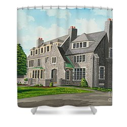 Kappa Delta Rho South View Shower Curtain by Charlotte Blanchard