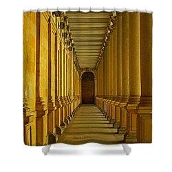 Karlovy Vary Colonnade Shower Curtain by Juergen Weiss