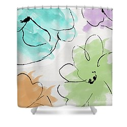 Kasumi Shower Curtain by Mindy Sommers