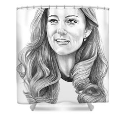 Kate Middleton Catherine Duchess Of Cambridge Shower Curtain by Murphy Elliott