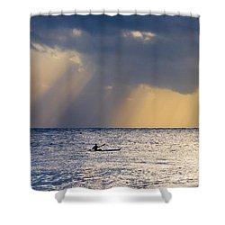 Kayak At Dawn Shower Curtain by Mike  Dawson