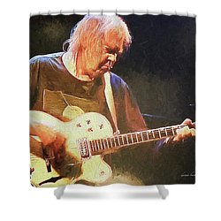 Keep On Rockin In The Free World Shower Curtain by Dennis Baswell