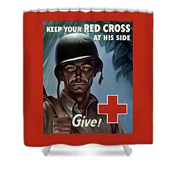 Keep Your Red Cross At His Side Shower Curtain by War Is Hell Store