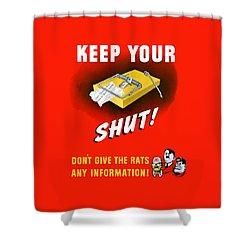 Keep Your Trap Shut -- Ww2 Propaganda Shower Curtain by War Is Hell Store