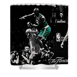 Kevin Garnett Not In Here Shower Curtain by Brian Reaves