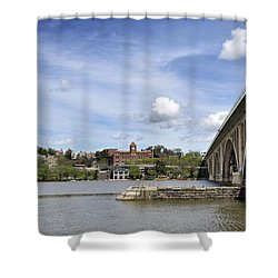 Key Bridge Into Georgetown Shower Curtain by Brendan Reals