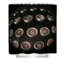 Key To Communication Shower Curtain by Jeffery Ball