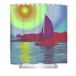 Key West Sun Shower Curtain by Steven Sparks