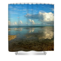 Keys Reflections Shower Curtain by Mike  Dawson