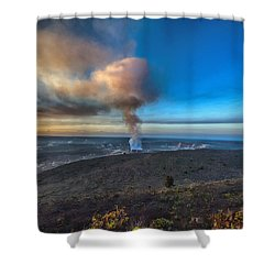 Kilauea Caldera Shower Curtain by Lynn Andrews