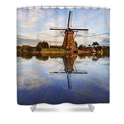 Kinderdijk Shower Curtain by Chad Dutson