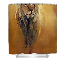 King Leo Shower Curtain by Odile Kidd