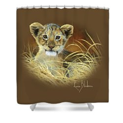 King To Be Shower Curtain by Lucie Bilodeau