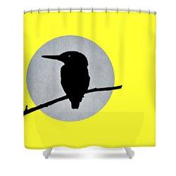 Kingfisher Shower Curtain by Mark Rogan